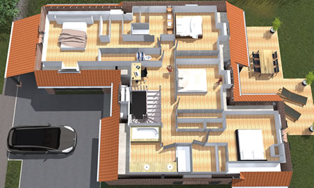 Plan construction maison 3d