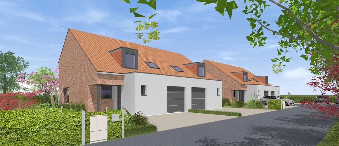 Maisons Michel Delplanque-chanterelle-tuiles-briques-enduit-terrasson-maisons jumelées
