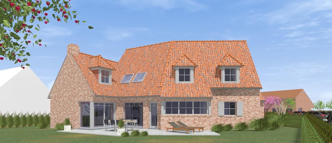 Maisons Michel Delplanque19001 flamande-tuiles tempetes cottage-grande baie alu-petit bois-capucine-terrasse-jardin