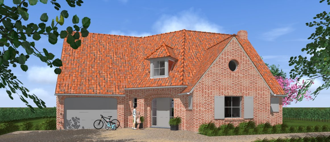 Maisons Michel Delplanque-19011-classique-flamande-briques rouge joints blancs-cintre-entrée