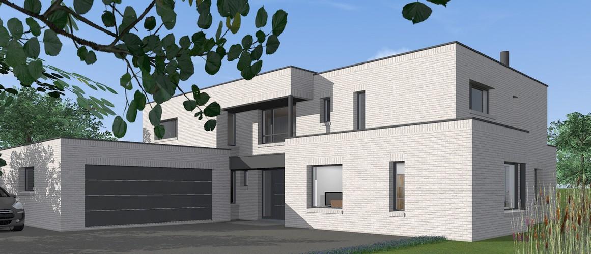 Maisons Delplanque-15014-cubique-briques gris clair-perspective entrée