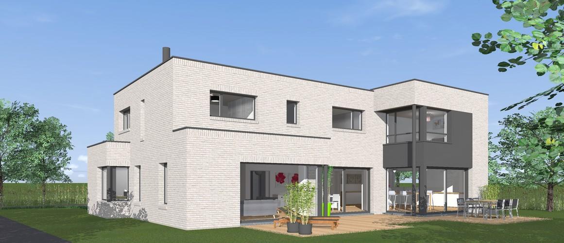 Maisons Delplanque-15014-cubique-briques-trespa-perspective jardin