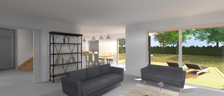 Maisons Delplanque-cubique-grande baie-enduit-briques-bardage bois-pers salon-20001-lot 2