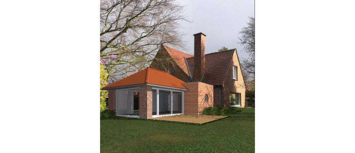 Maisons Delplanque-19032-extension-croupe-piscine-briques-bardage bois-grande baie-vue jardin-insertion photographique
