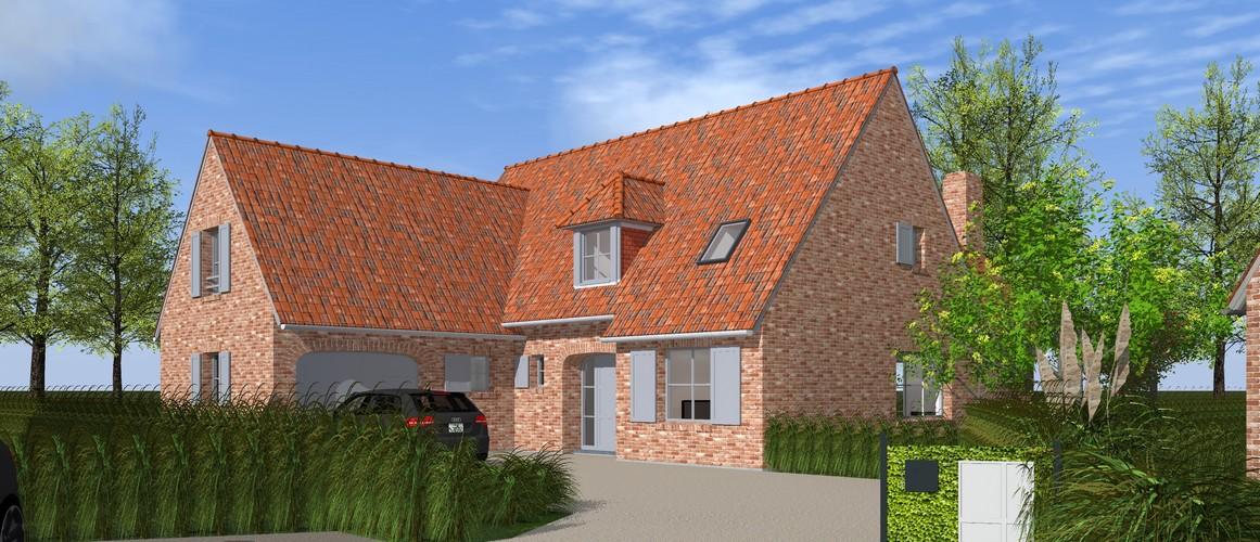 Maisons Delplanque-20013-classique-briques rouges-joints creme-queue de vache-extension-vue rue-vue avant lot 12