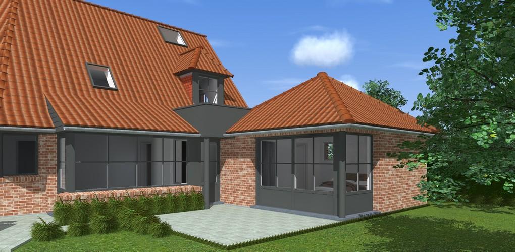 Maisons Delplanque-20017-classique-briques rouges-joints creme-queue de vache-extension-vue extension